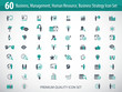 Set of business, management, human resources, business strategy icons