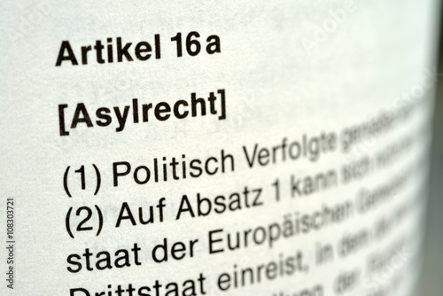 Foto Asylrecht, Asyl, Grundgesetz, Artikel 16 a, Flüchtlinge, Asylverfahren, Migratio