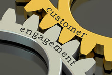 Customer Engagement Concept On The Gearwheels, 3D Rendering