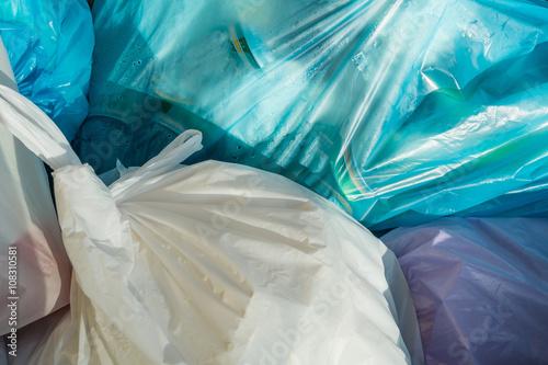 Fotobehang Koraalriffen Rubbish bags