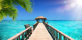 Fototapeta Fototapety do akwarium - Input Dock For The Tropical Paradise