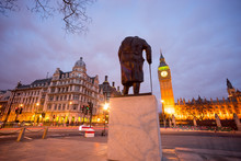 Big Ben And Statue Of Sir Wins...