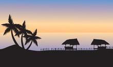Gazebo On The Ocean Shore At S...