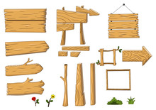 Collection Furniture Of Woods Cartoon