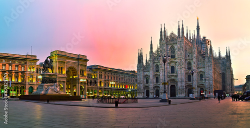 Spoed Foto op Canvas Milan Duomo cathedral in Milan, Italy