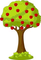 green apple tree of full red apple