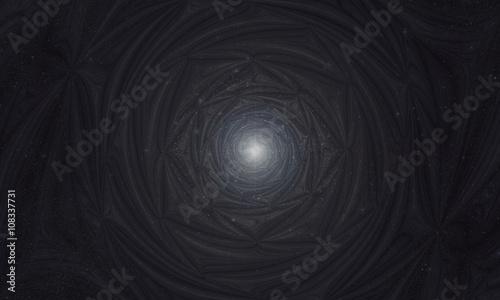 Photo Fractal Star Light of Sirius. Cosmic Mandala.