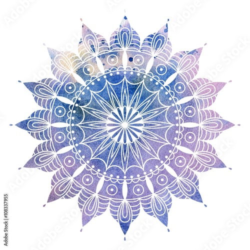 Mandala  colorful watercolor Tapéta, Fotótapéta
