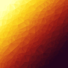 Abstract Squared Polygonal Background In Deep Red, Purple, Violet, Orange And Light Yellow Colors. Modern Design. Best Suited For Covers, Banners, Templates, Business Cards And Packing