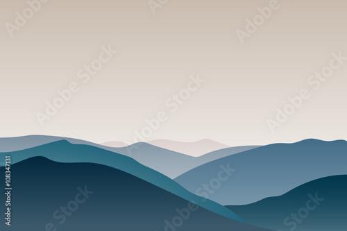 Wektor górski krajobraz