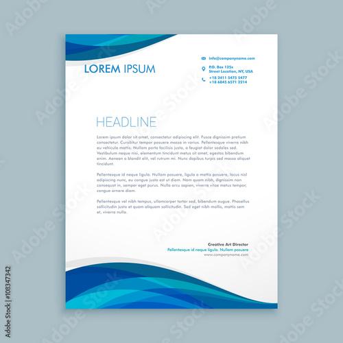 Fototapeta business style corporate letterhead obraz