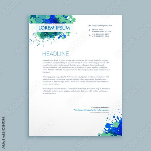 Fototapeta business letterhead abstract design obraz