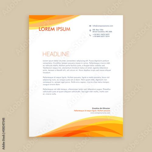Fototapeta yellow wave creative letterhead obraz