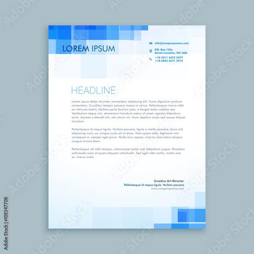 Fototapeta abstract creative letterhead design obraz
