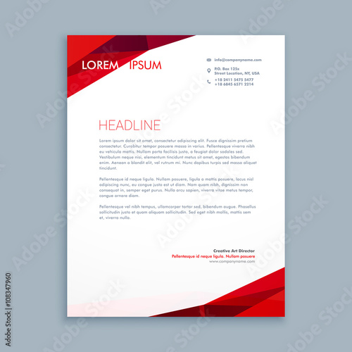 Fototapeta abstract letterhead template obraz