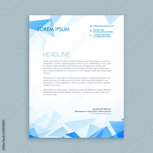 Fototapeta abstract triangle letterhead design obraz