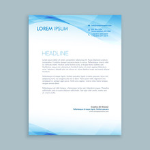 Business Wave Letterhead Templ...