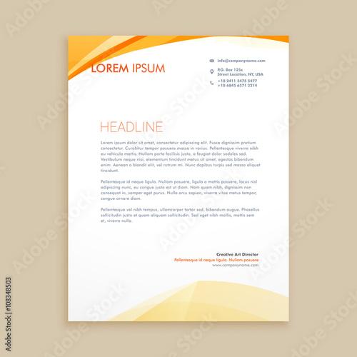 Fototapeta wavy business letterhead design obraz