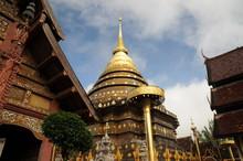 Wat Phra That Lampang Luang, Lanna-style Buddhist Temple In Lampang In Lampang Province, Thailand.