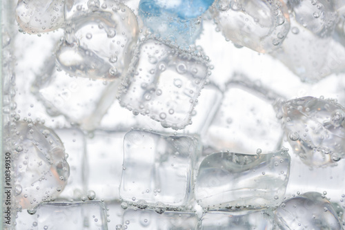 Valokuva  Close up of ice cubes in water