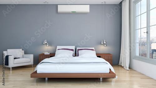 Camera da letto con condizionatore – kaufen Sie dieses Foto und ...