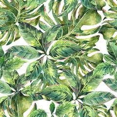 FototapetaSummer exotic watercolor seamless pattern