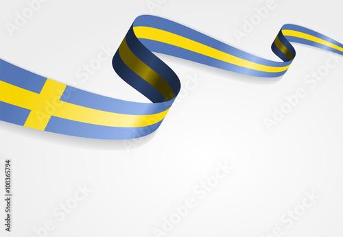 Fotografía  Swedish flag background. Vector illustration.