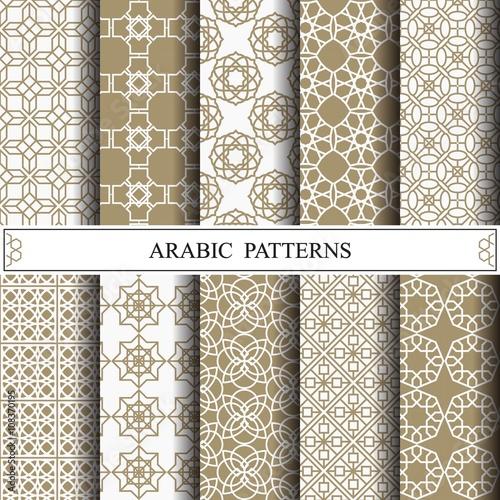 Türaufkleber Künstlich arabic vector pattern,pattern fills, web page background,surface