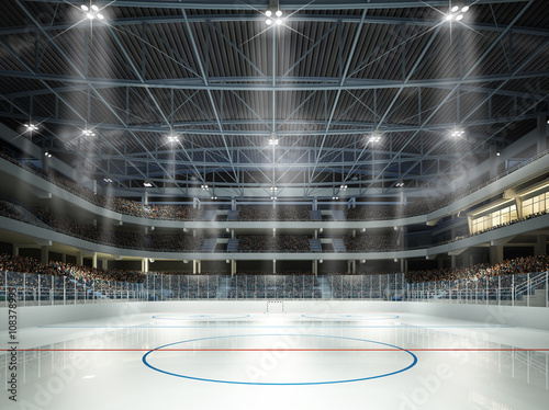 fototapeta na drzwi i meble Eishockeyhalle Mittellinie