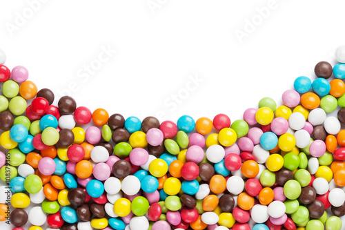 Keuken foto achterwand Snoepjes Colorful candies frame