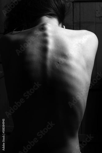 Photo Elegant girl's back