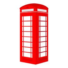 Isolated Red British Telephone...