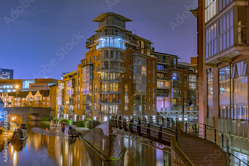 Spoed Foto op Canvas Kanaal Amazing view of the canals in Birmingham