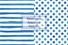 Set Of Two Watercolor Seamless...