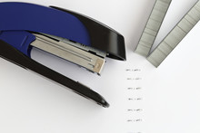 Blue Stapler With Staples And ...