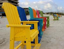 Colorful Adirondack Beach Chairs