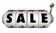 Sale Slot Machine Wheels Dials Money Saving Offer Special Price