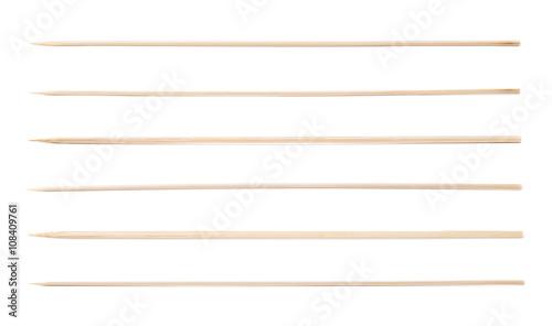 Cuadros en Lienzo Single wooden skewer isolated