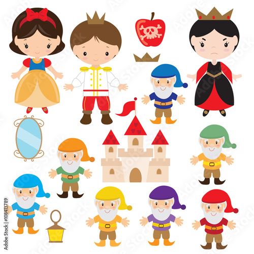 Snow White vector illustration