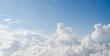 Leinwandbild Motiv Cloud and blue sky view from airplane