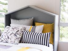 Modern Pillows On Bed