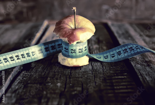 anorexia thinness measuring apple Canvas Print