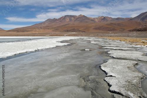 Fotografia  Amazing natural scenery: Lagoons of Altiplano plateau, Bolivia