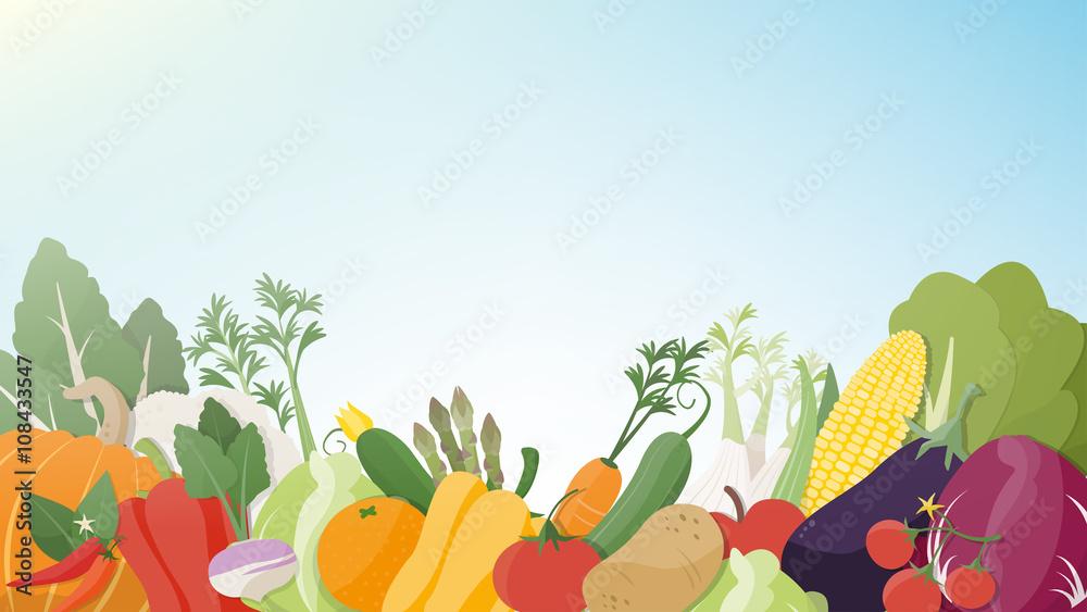 Seasonal tasty vegetables