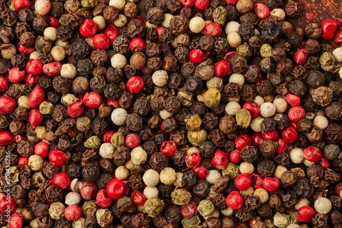 Keuken foto achterwand Kruiden Pepper spice texture