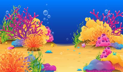 Fototapeta na wymiar under water reef