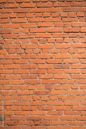 Foto op Aluminium Wand Red brick wall texture background