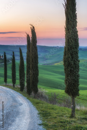 Magical journey fields of Tuscany