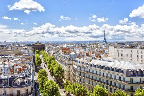 Poster de jardin Paris Panorama of Paris from the bird's-eye view