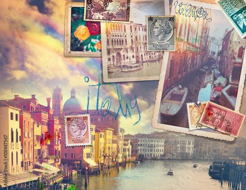 Fotografia  Vacanze in Italia,cartoline vintage di Venezia